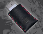 iPhone Tasche black/red