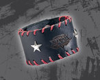 Lederarmband Frauen black/red